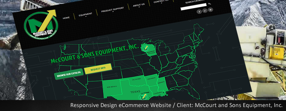 Custom Web Design for McCourt and Sons - Mobile Responsive Layout